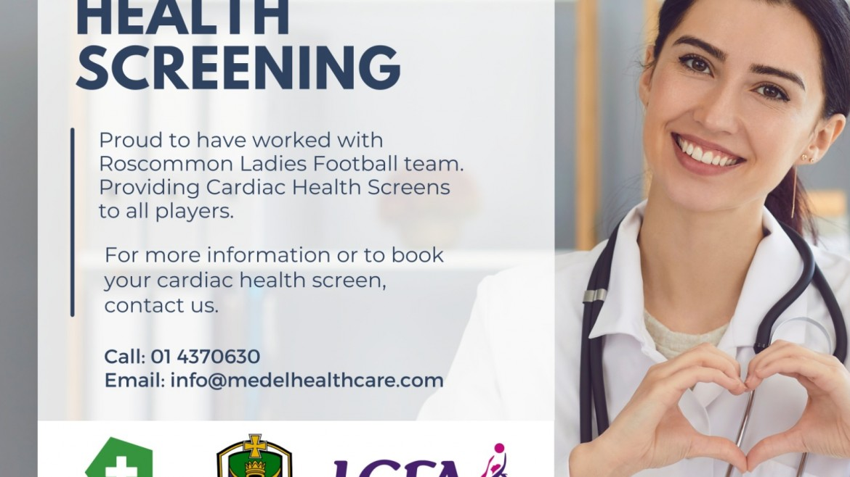 Roscommon Senior LGFA players receive Cardiac Health Screen